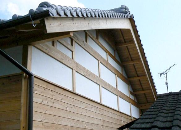 青梅市梅郷 無垢の木使用の屋根